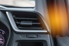 在现代汽车的内部自动空调系统 免版税图库摄影