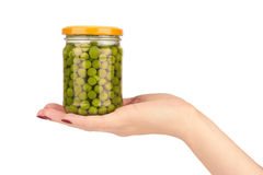 在现有量的豌豆 免版税库存图片