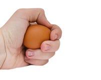 在现有量的鸡蛋 免版税库存照片