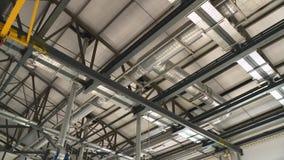 在现代工厂厂房的通风系统 股票视频