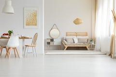 在现代样式的木家具 库存图片