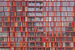 在现代建筑学的看法在鹿特丹,荷兰 库存照片