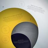 在现代设计的传染媒介模板。在另外颜色的四块板材 免版税库存图片