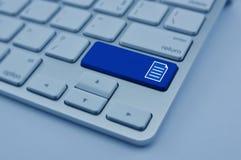 在现代键盘按钮,网络concep的文件象 免版税库存图片