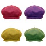 在现代颜色的贝雷帽 免版税库存照片