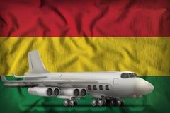 在玻利维亚州旗子背景的轰炸机 3d例证 向量例证