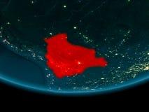 在玻利维亚的夜地球上 免版税库存照片