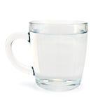 在玻璃杯子的水 库存照片