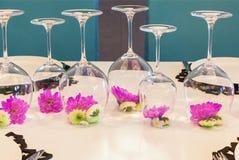 在玻璃的一朵花 免版税图库摄影