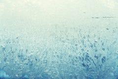 在玻璃的冷淡的样式,浅兰 库存图片