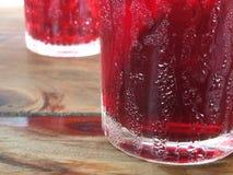 在玻璃的冷的新鲜的红潮冰 图库摄影