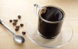在玻璃的咖啡 免版税库存照片