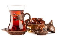 在玻璃的土耳其茶 库存图片