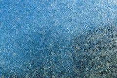 在玻璃的霜 免版税库存图片