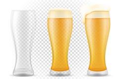 在玻璃透明储蓄传染媒介例证的啤酒 皇族释放例证