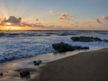 在珊瑚小海湾公园,木星,佛罗里达的日出 库存图片
