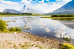 在班夫亚伯大西部加拿大附近的自然 库存照片