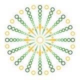 在球商标设计的绿色和橙色圈子 免版税库存图片