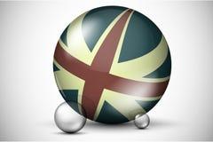在球场的英国旗子 库存图片