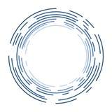 在球形状设计的蓝色圈子 库存图片