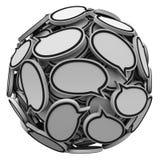 在球形群谈的反馈的许多讲话泡影 皇族释放例证