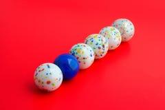 在球球蓝色dof五之中集中一浅白色 库存图片