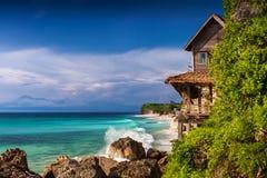 在理想国海滩的看法 免版税图库摄影