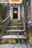 在琥珀色的堡垒的古老台阶 库存图片