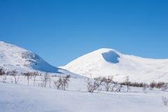 在瑞典山的美好的天 免版税图库摄影