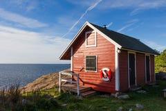 在瑞典的海岸的Femörehuvud 免版税图库摄影