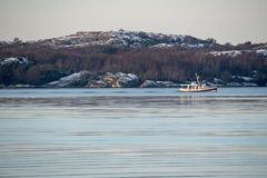 在瑞典的西海岸的冬天 图库摄影