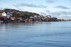 在瑞典西海岸的Tjornekalv在冬天 库存照片
