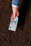 在瑞典货币的银行贷款农工联合企业起动和debel的 免版税库存照片