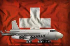 在瑞士州旗子背景的轰炸机 3d例证 向量例证