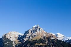 在瑞士的山 库存图片