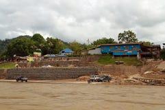 在瓜拉Tahan村庄的看法 库存图片