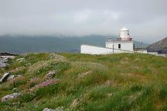 在瓦伦西亚岛的灯塔 库存照片