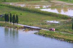 洪水在瓦尔纳保加利亚6月19日 库存照片