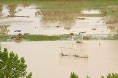 洪水在瓦尔纳保加利亚6月19日 库存图片