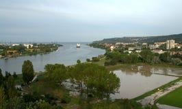 洪水在瓦尔纳保加利亚6月19日 免版税图库摄影