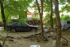 洪水在瓦尔纳保加利亚6月19日 免版税库存图片