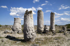 在瓦尔纳,保加利亚附近的石森林 库存照片