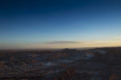 在瓦尔de la月/月球的日落 免版税库存图片