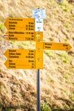 在瓦杜兹的主要部分的黄色尖 免版税库存图片