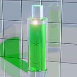 在瓦片反映的瓶parfimeriey 向量例证