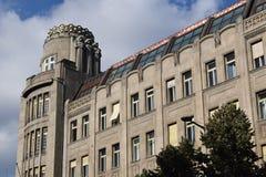 在瓦茨拉夫广场的宫殿克朗 库存图片