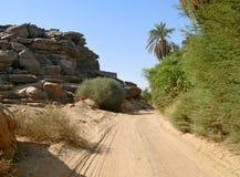 在瓦迪哈勒法和喀土穆之间的路。 图库摄影