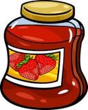 在瓶子动画片例证的果酱 免版税图库摄影
