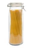 在瓶子的意大利面食 免版税库存照片