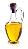 在瓶子的橄榄油 免版税库存图片